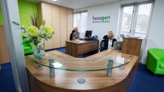 Reception at Wittas House Serviced Offices Witney Oxfordshire #Growzone